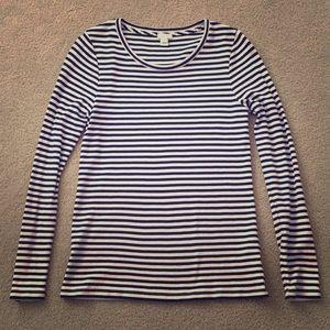 J. Crew Striped Ribbed Long Sleeve T-Shirt